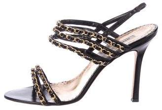 Manolo Blahnik Patent Leather Strap Sandals