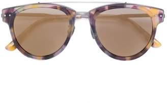 Bottega Veneta round frame bar sunglasses