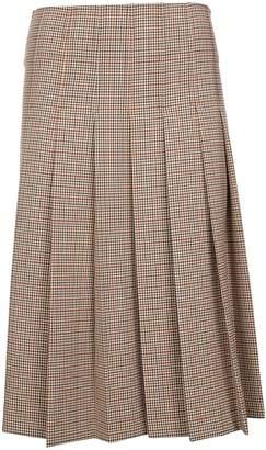 A.P.C. Plaid Pleated Skirt