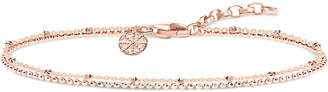 Thomas Sabo Double karma wheel 18ct rose gold-plated sterling silver bracelet