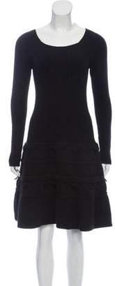 Agnona Wool Blend Sweater Dress