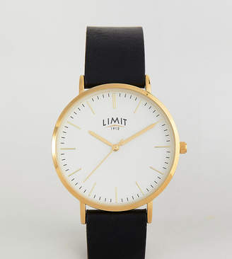 Limit Black Faux Leather Watch Exclusive To ASOS