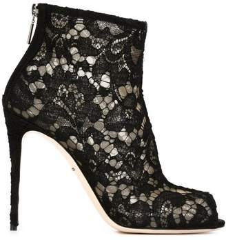 Dolce & Gabbana Grommet Lace-Up Booties authentic cheap online oPpk7G
