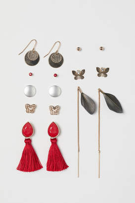 H&M 8-pack earrings - Red