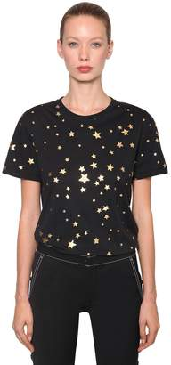 RED Valentino Star Printed Cotton Jersey T-Shirt