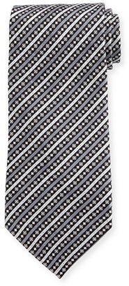 Stefano Ricci Fancy Stripe Printed Silk Tie $275 thestylecure.com