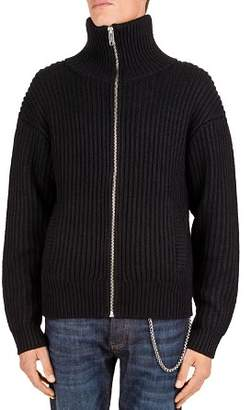 The Kooples Zip-Front Turtleneck Sweater