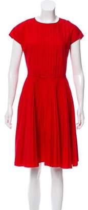 Prada Pleated Knee-Length Dress