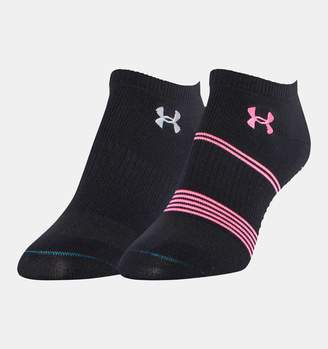 Under Armour Womens UA Grippy III No Show Socks 2-Pack