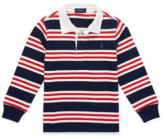 Ralph Lauren Long-Sleeve Striped Rugby Top, Size 5-7