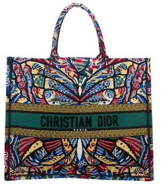 Christian Dior 2018 Embroidered Book Tote