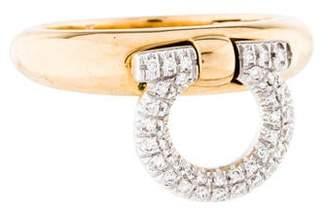 Salvatore Ferragamo 18K Diamond Giancino Ring