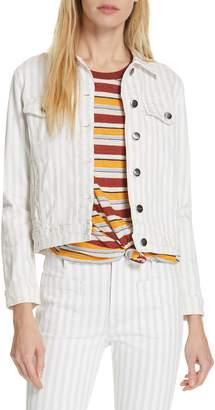 cbb5fd71b76 Frame Le Vintage Stripe Crop Denim Jacket