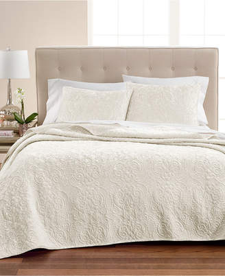 Martha Stewart Collection Velvet Flourish King Quilt, Created for Macy's