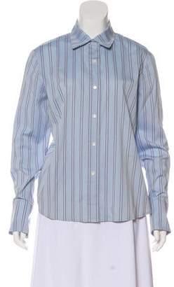 Ellen Tracy Striped Long Sleeve Top