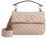 Valentino GARAVANI Spike Up Matelasse Calfskin Leather Shoulder Bag