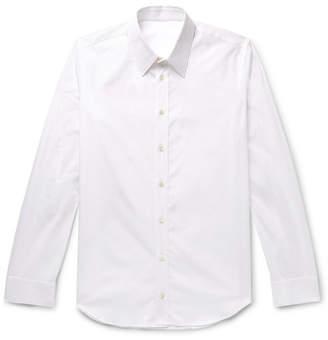 Helmut Lang Slim-Fit Logo-Print Cotton-Poplin Shirt