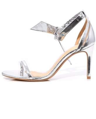 Alexandre Birman Clarita Vinyl Sandal in Silver/Transparent