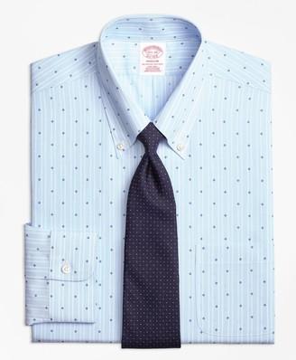 Brooks Brothers Madison Classic-Fit Dress Shirt, Non-Iron Stripe Flower