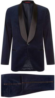 Brunello Cucinelli Satin and Velvet Two-Piece Suit