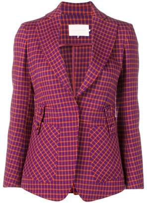 L'Autre Chose checked print blazer
