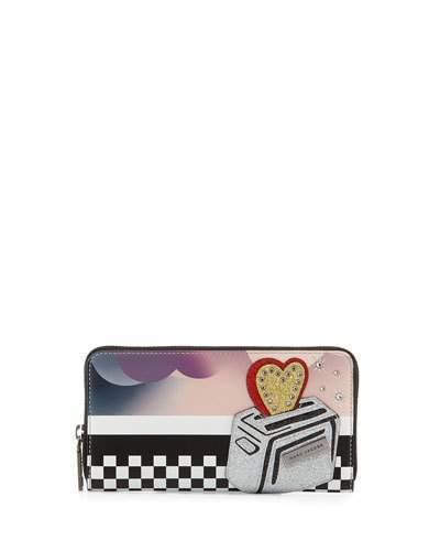 Marc Jacobs Marc Jacobs Clouds Continental Wallet, Blue/Multi