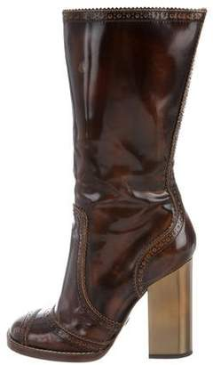 Dolce & Gabbana Brogue Mid-Calf Boots