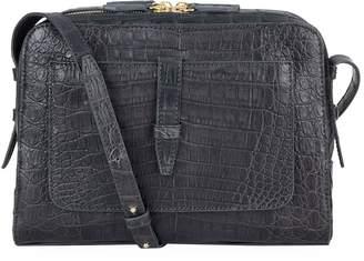 Nancy Gonzalez Crocodile Double Zip Cross Body Bag