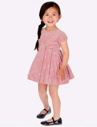 Mayoral Pink Velvet Dress