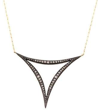 Mizuki Diamond Triple Crescent Pendant Necklace