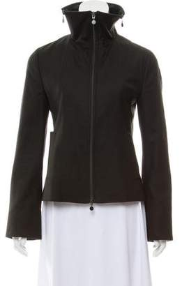 Akris Punto Leather-Trimmed Wool Jacket