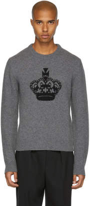 Dolce & Gabbana Grey Crown Crewneck Sweater
