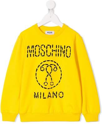 Moschino Kids trompe l'oeil stitch logo sweatshirt