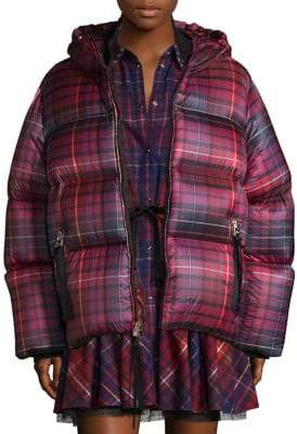 Tommy Hilfiger Collection Short Tartan Down Jacket