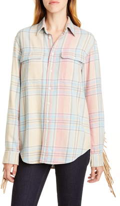 Polo Ralph Lauren Fringe Trim Plaid Shirt