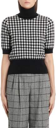 Dolce & Gabbana Short Sleeve Cashmere Turtleneck Sweater