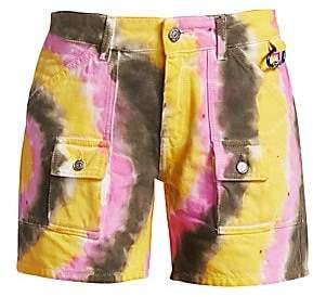 Ganni Women's Colored Washed Denim Shorts
