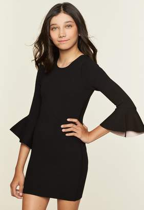 Milly Minis MillyMilly Contrast Drape Sleeve Sheath