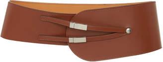Maison Vaincourt Exclusive Kyoto Wide Calf Leather Belt Size: 80 cm