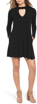 Women's Socialite Mock Neck Knit Shift Dress $46 thestylecure.com
