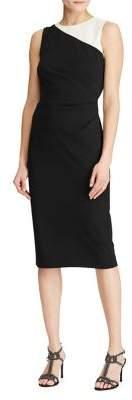 Lauren Ralph Lauren Colorblock Crepe Sheath Dress