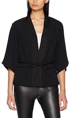 Scotch & Soda Maison Women's Celebration Kimono Blazer Suit Jacket, (Black 08), 12 (Size: )