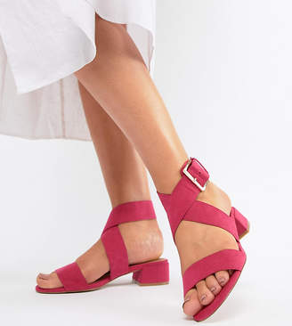 Asos Design DESIGN Federal Wide Fit Flat Sandals