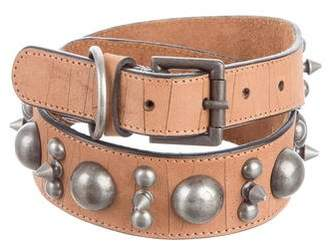 Gryphon Embellished Leather Belt