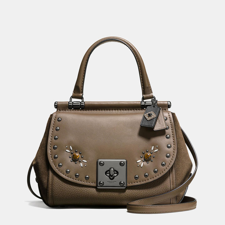 Coach   COACH Coach Western Rivets Drifter Top Handle In Glovetanned Leather