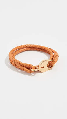 Tory Burch Braided Lock Triple Wrap Bracelet
