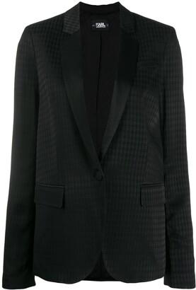 Karl Lagerfeld Paris head jacquard blazer