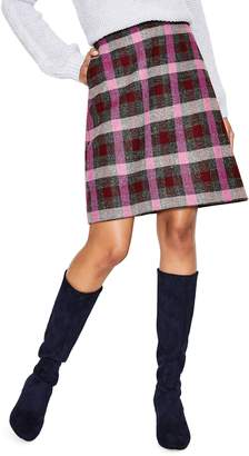 Boden British Tweed Wool Mini Skirt
