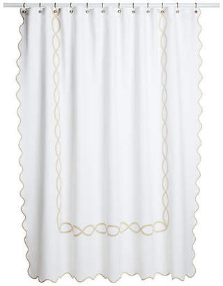 One Kings Lane Matouk For Gianna Shower Curtain - Champagne