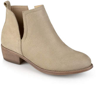 Journee Collection Womens Rimi-Wd Booties Block Heel Pull-on Wide Width